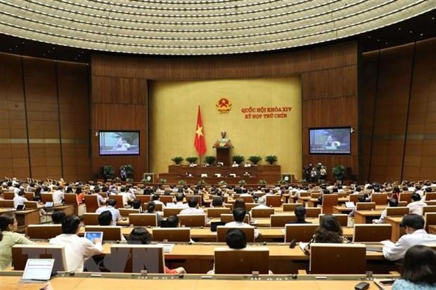 Parlamento de Vietnam continua debates sobre el desarrollo socioeconomico hinh anh 1