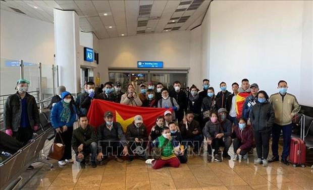 Repatrian a 69 ciudadanos vietnamitas desde paises africanos hinh anh 1