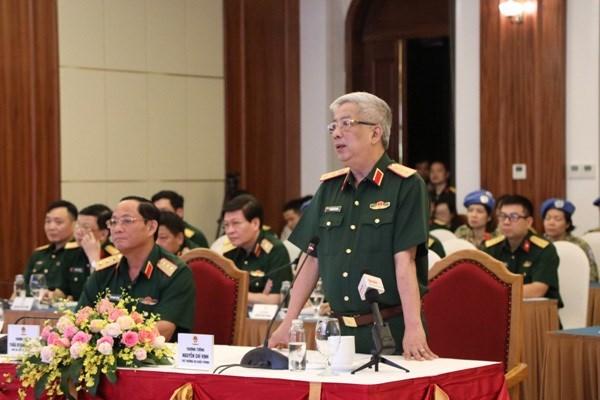 Garantizar la seguridad de fuerzas vietnamitas de paz, prioridad en medio de COVID-19 hinh anh 1