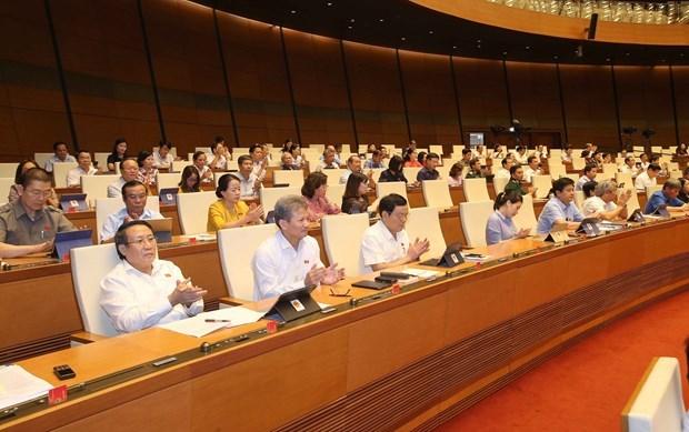 Continuan actividades del noveno periodo de sesiones del Parlamento vietnamita hinh anh 1