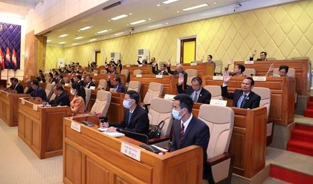 Senado de Camboya aprueba proyecto de ley contra lavado de dinero y financiamiento de armas hinh anh 1