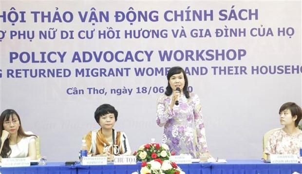 Plantean soluciones de apoyo a la reintegracion de mujeres vietnamitas casadas con extranjeros hinh anh 1