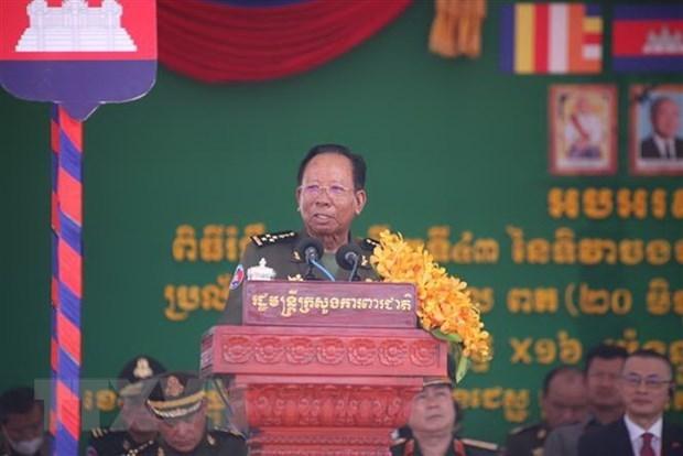 Celebra Camboya aniversario de busqueda de salvacion nacional del regimen Polpot hinh anh 1