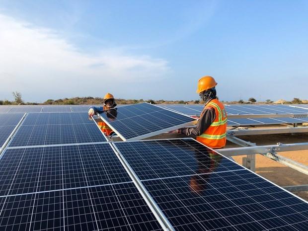 Inauguran planta fotovoltaica en la provincia vietnamita de Ninh Thuan hinh anh 1