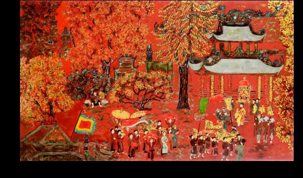 Pinturas vietnamitas seran subastadas en linea hinh anh 1