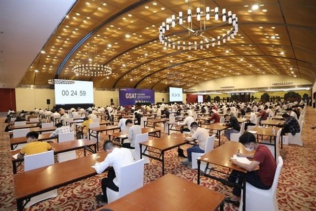 Realiza Samsung prueba de aptitud para reclutas potenciales en Vietnam hinh anh 1