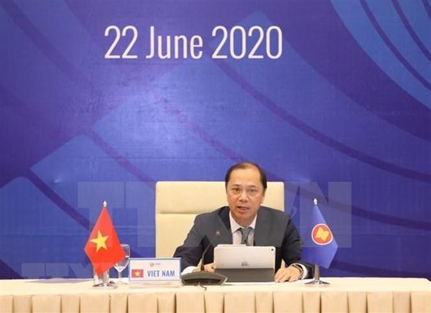 Desarrollan reunion preparatoria para Cumbre de la ASEAN hinh anh 1