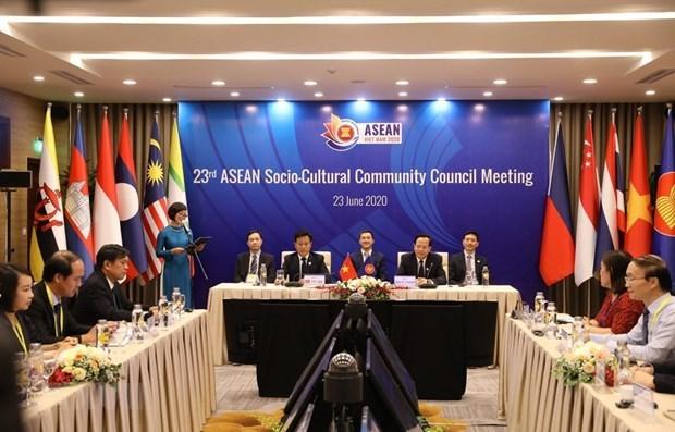 Efectuan la XXIII Conferencia de la Comunidad Sociocultural de ASEAN hinh anh 1