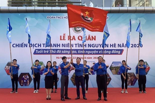 Lanzan en Hanoi la campana de jovenes voluntarios del verano 2020 hinh anh 1