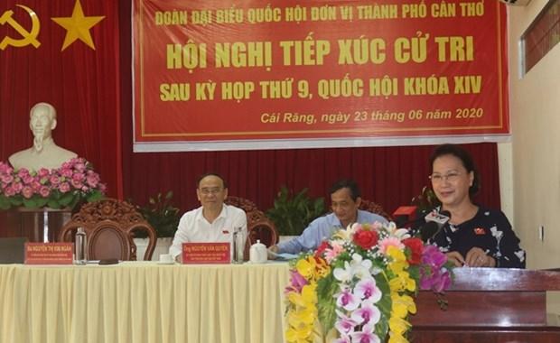 Presidenta del Parlamento vietnamita se reune electores de ciudad de Can Tho hinh anh 1