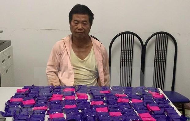 Detienen en Vietnam a individuo con mas de 43 mil pastillas de metanfetamina hinh anh 1