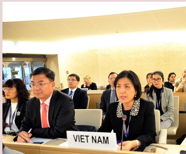 Consejo de la ONU adopta documentos para promover los derechos humanos hinh anh 1