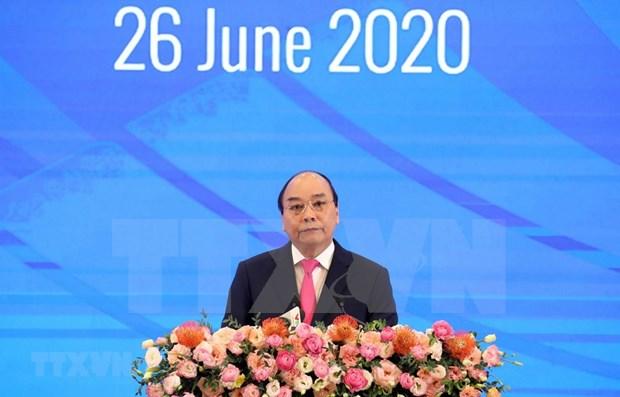 Sesiona en Hanoi plenario en linea de XXXVI Cumbre de la ASEAN hinh anh 1