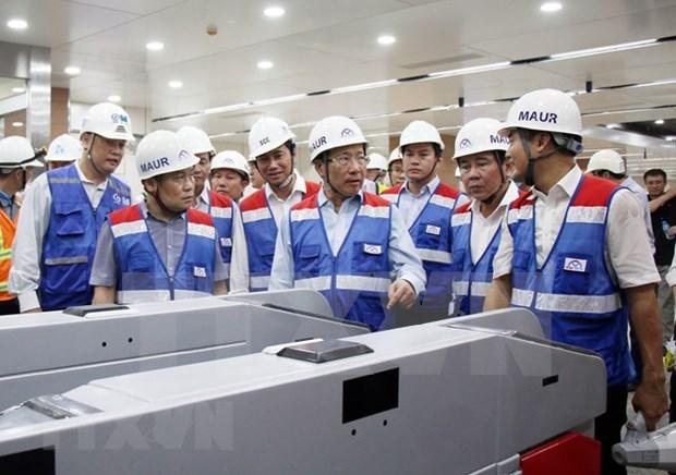 Inspeccionan construccion del proyecto del metro Ben Thanh-Suoi Tien en Ciudad Ho Chi Minh hinh anh 1