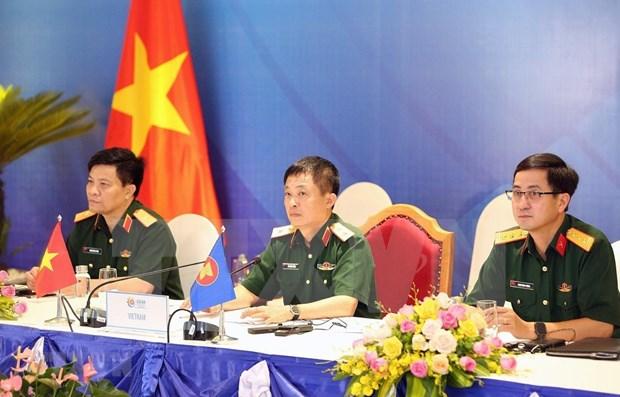 Vietnam preside reunion de preparativos para conferencia de ministros de Defensa de ASEAN hinh anh 1