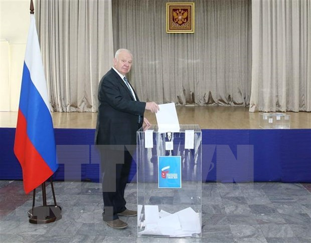 Rusos residentes en Vietnam votan reforma constitucional de Rusia hinh anh 1