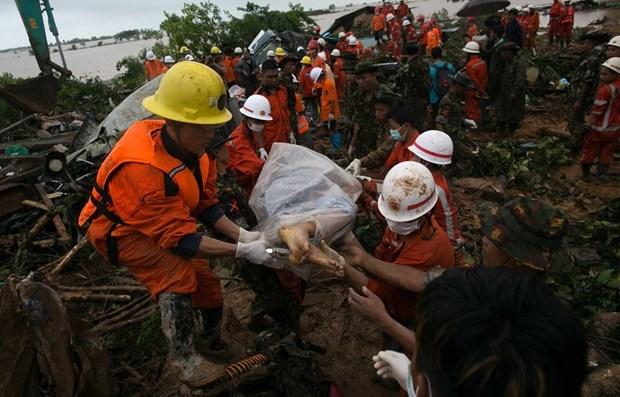 Al menos 50 muertos en derrumbe de mina de jade en Myanmar hinh anh 1