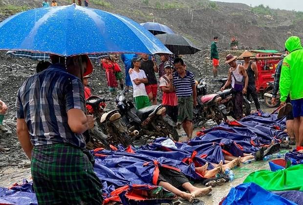 Vietnam expresa condolencias a Myanmar ante graves perdidas por derrumbe de mina hinh anh 1