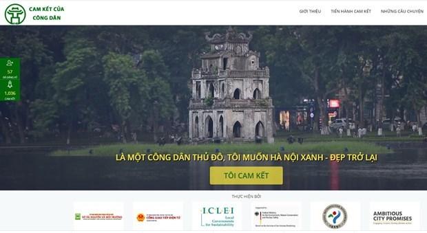 Presentan sitio web para compromisos de amantes de Hanoi con su mejoramiento ambiental hinh anh 1