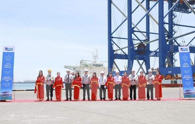Doosan Vina entrega dos gigantescas gruas a puerto internacional de Gemalink hinh anh 1