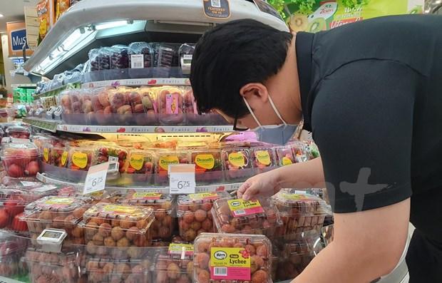 Lichi de Vietnam conquista mercado singapurense hinh anh 1