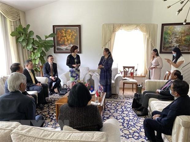 Asume Vietnam presidencia del Comite de la ASEAN en Berna hinh anh 1