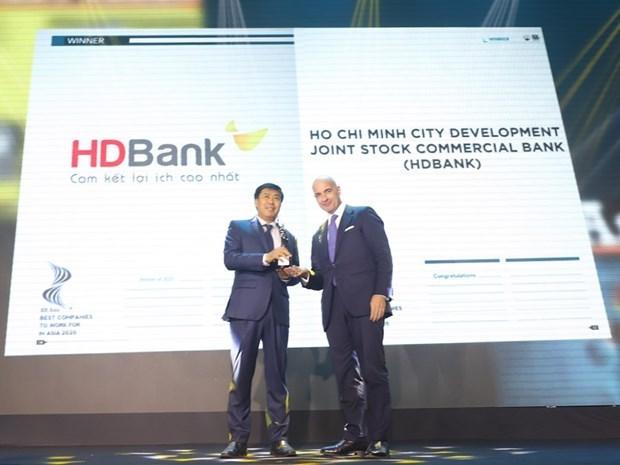 """HDBank honrado en acto de premiacion """"HR Asia Awards 2020"""" hinh anh 1"""