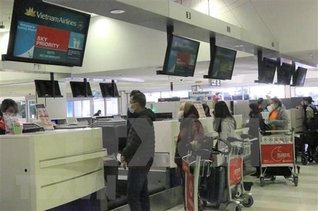 Repatrian a ciudadanos vietnamitas de Australia y Nueva Zelanda a causa del COVID-19 hinh anh 1