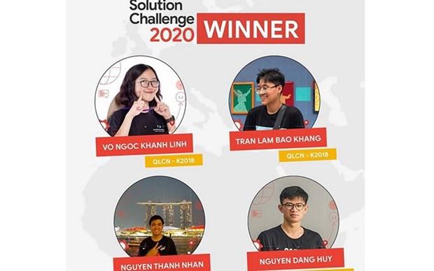 Ganan estudiantes vietnamitas premio tecnologico de Google hinh anh 1
