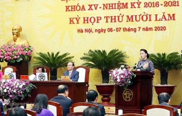 Presidenta del Parlamento vietnamita insta a estimular recuperacion economica de Hanoi hinh anh 1