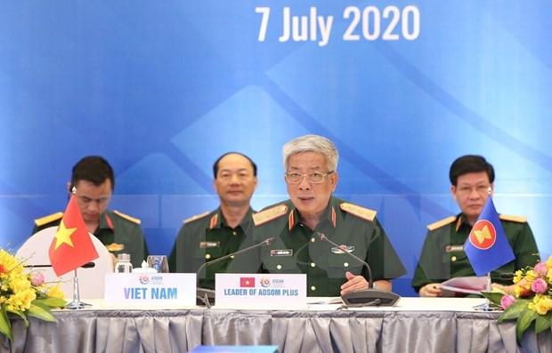 Refuerzan cooperacion en defensa entre ASEAN y sus socios en medio de la pandemia hinh anh 1