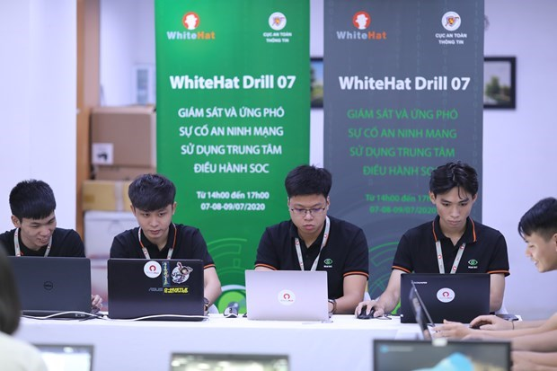 Realizan ensayo para garantizar ciberseguridad en Vietnam hinh anh 1