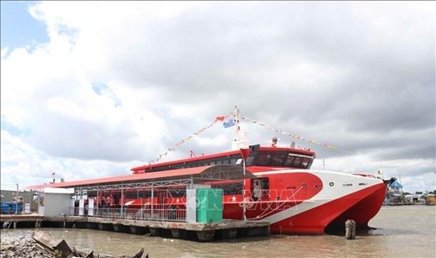 Inauguran primera ruta por mar en Ca Mau, provincia del extremo sur de Vietnam hinh anh 1