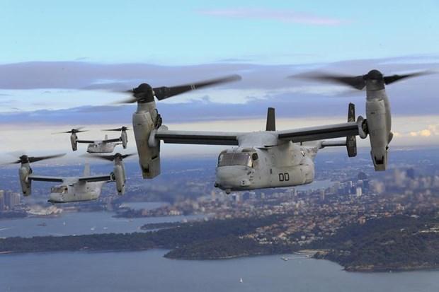 Aprueba Estados Unidos venta de helicopteros MV-22 Osprey a Indonesia hinh anh 1