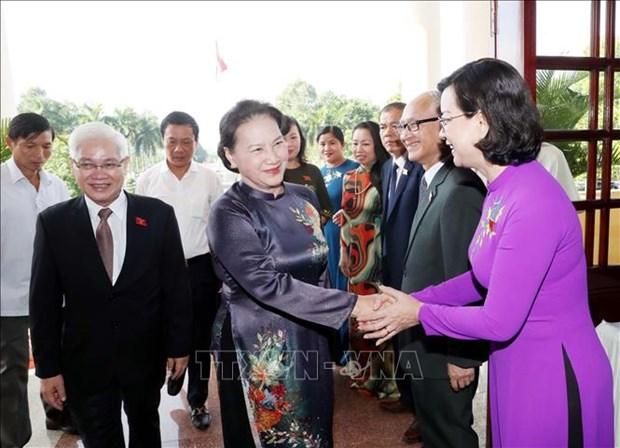 Elogia presidenta del Parlamento vietnamita esfuerzos de Binh Phuoc para impulsar crecimiento economico hinh anh 1