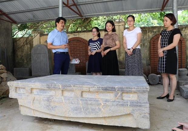 Descubren reliquia antigua en provincia vietnamita de Ninh Binh hinh anh 1