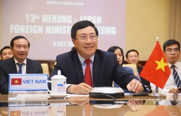 Paises de Mekong y Japon refuerzan cooperacion contra COVID- 19 hinh anh 1