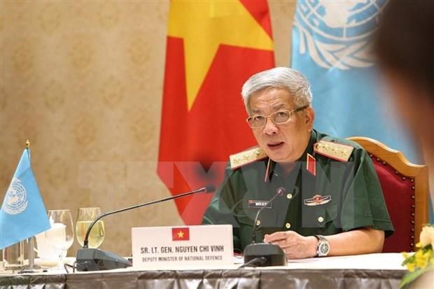 Listos oficiales vietnamitas para mision de mantenimiento de paz de la ONU hinh anh 1
