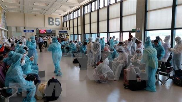 Mas de 240 ciudadanos vietnamitas en Singapur se repatrian con exito hinh anh 1