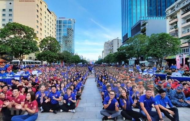 Jovenes de Ciudad Ho Chi Minh se incorporan a actividades voluntarias hinh anh 1