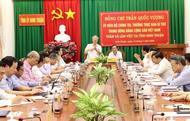 Permanente de Secretariado del PCV visita Ninh Thuan hinh anh 1