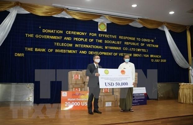 Apoya Vietnam a lucha contra COVID-19 en Myanmar hinh anh 1