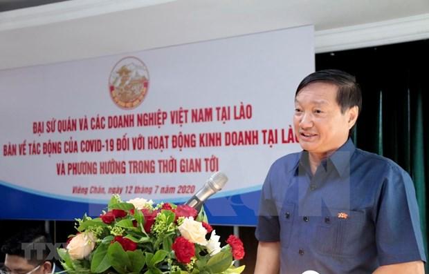 Empresas vietnamitas en Laos buscan solucionar dificultades provocadas por el COVID-19 hinh anh 1