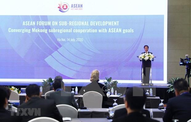Efectuan el Foro de la ASEAN sobre desarrollo subregional hinh anh 1