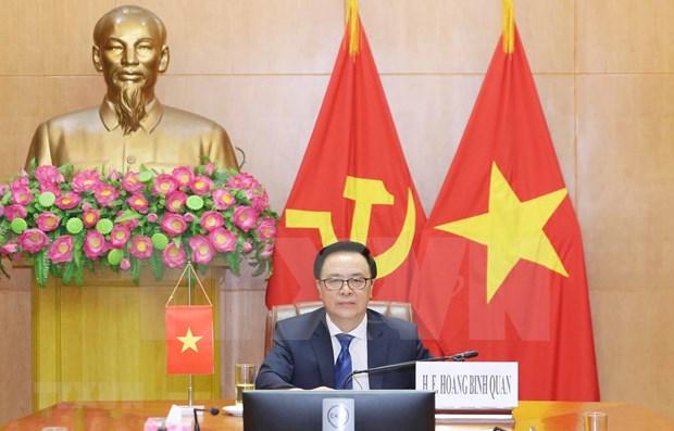 Vietnam asiste a videoconferencia internacional sobre seguridad y cooperacion en medio de COVID-19 hinh anh 1