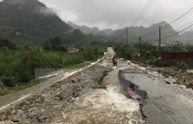 Desastres naturales provocan grandes perdidas para la region montanosa del norte de Vietnam hinh anh 1