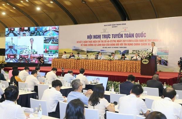 Vietnam se esfuerza por elevar la eficiencia del credito de politicas sociales hinh anh 1
