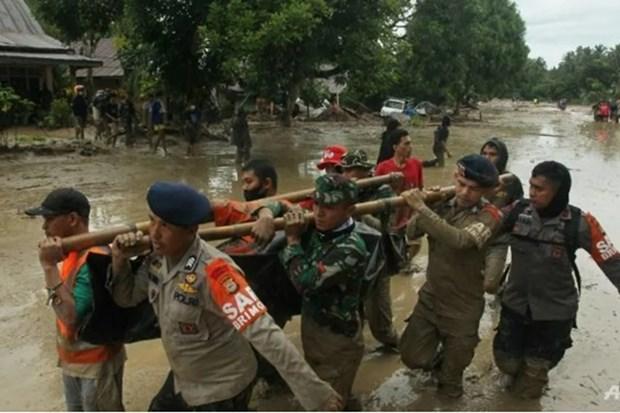 Aumenta numero de fallecidos por inundaciones en Indonesia hinh anh 1