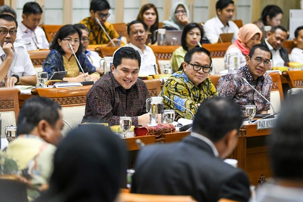 Camara de Representantes de Indonesia autoriza fondo multimillonario para apoyar a empresas estatales hinh anh 1