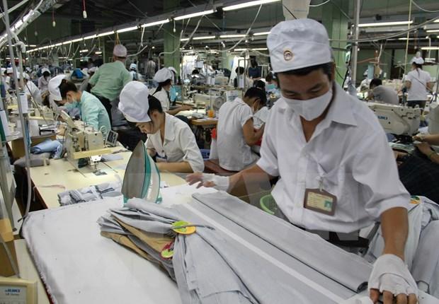 Sector de confecciones textiles de Vietnam se beneficia de cambio de cadena de suministro global hinh anh 1